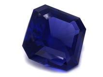 Pietra preziosa nera o blu dello zaffiro fotografie stock libere da diritti