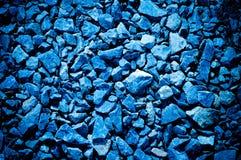 Pietra schiacciata blu Fotografia Stock Libera da Diritti