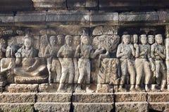 Pietra scolpita a Borobudur Fotografia Stock Libera da Diritti