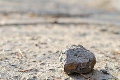 Pietra sola su una strada Fotografie Stock
