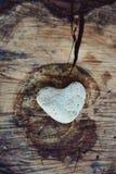 Pietra sotto forma di cuore Fotografie Stock