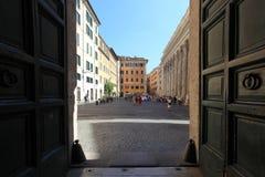 Pietra square in Rome Stock Image