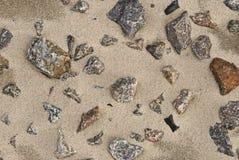 Pietra sulla sabbia Fotografia Stock Libera da Diritti