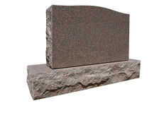 Pietra tombale in bianco Fotografie Stock Libere da Diritti