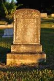 Pietra tombale in bianco Fotografia Stock