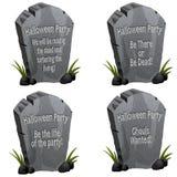 Pietra tombale del partito di Halloween Immagine Stock