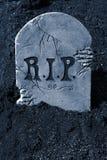 Pietra tombale di Halloween immagini stock
