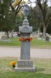 Pietra tombale di William Bent fotografia stock