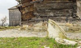 Pietra tombale spaccata Fotografie Stock Libere da Diritti