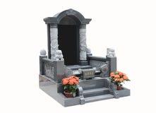 Pietra tombale su un fondo bianco Fotografia Stock Libera da Diritti