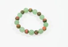 Pietra verde del braccialetto Immagine Stock Libera da Diritti