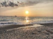 Pietrabianca strand Arkivbild