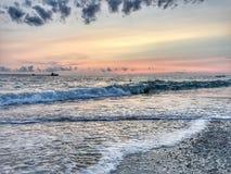 Pietrabianca strand Arkivfoto