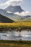 Pietranzoni lake, Gran Sasso of Italy Stock Photography