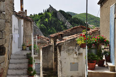 Pietrapertosa, Basilicata, Italy. The old village traditional architecture. Royalty Free Stock Image