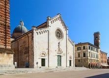 Pietrasanta cathedral stock photo