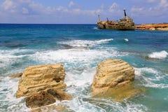 Pietre in acqua di mare sul fondo del naufragio Fotografia Stock Libera da Diritti