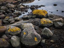 Pietre alla spiaggia fotografia stock