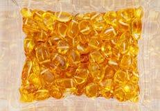 Pietre ambrate gialle Fotografia Stock Libera da Diritti