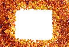 Pietre ambrate gialle Immagini Stock Libere da Diritti