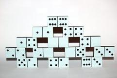 Pietre bianche di domino Immagini Stock Libere da Diritti
