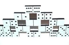 Pietre bianche di domino Fotografia Stock Libera da Diritti