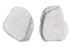 Pietre bianche isolate su fondo bianco Fotografia Stock