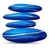 Pietre blu con le goccioline di acqua royalty illustrazione gratis