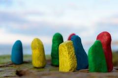 Pietre colorate del mare Fotografia Stock Libera da Diritti
