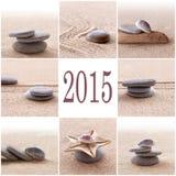 pietre 2015 dei ciottoli di zen Fotografie Stock