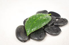 Pietre del basalto di zen Fotografie Stock Libere da Diritti