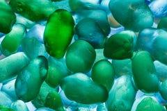 Pietre del mare del primo piano Modello astratto con le pietre colorate Fotografie Stock Libere da Diritti