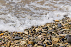 Pietre del mare lavate dalle onde Fotografia Stock
