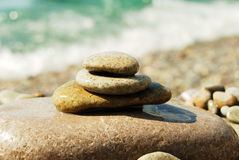Pietre del mare sulla spiaggia Immagini Stock Libere da Diritti
