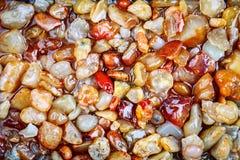 Pietre del mare sulla spiaggia del mare Resto di estate Fotografia Stock Libera da Diritti