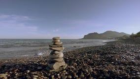 Pietre dell'equilibrio di zen archivi video