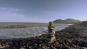 Pietre dell'equilibrio di zen stock footage