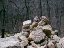 Pietre dell'equilibrio nel parco nazionale di Seoraksan Fotografie Stock