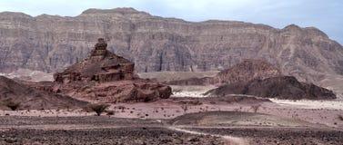 Pietre della sosta geologica Timna Fotografie Stock