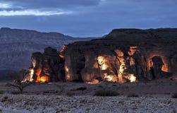 Pietre della sosta geologica Timna Fotografia Stock Libera da Diritti