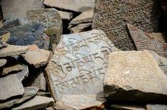 Pietre di Aden Buddhist mani Fotografia Stock Libera da Diritti