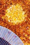 Pietre di ambra gialla Immagini Stock