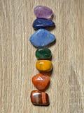 Pietre di Chakra, cristalli di Chakra Immagini Stock