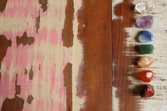 Pietre di Chakras da guarire Fotografia Stock Libera da Diritti