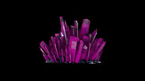 Pietre di cristallo rosa con l'alfa canale royalty illustrazione gratis