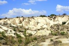 Pietre di Impresive in Cappadokia Fotografie Stock