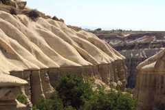 Pietre di Impresive in Cappadokia Fotografia Stock Libera da Diritti
