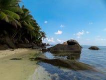 Pietre di La Digue Seychelles Fotografia Stock