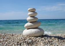 Pietre di stile di zen immagini stock