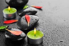 Pietre di zen della stazione termale Immagine Stock Libera da Diritti